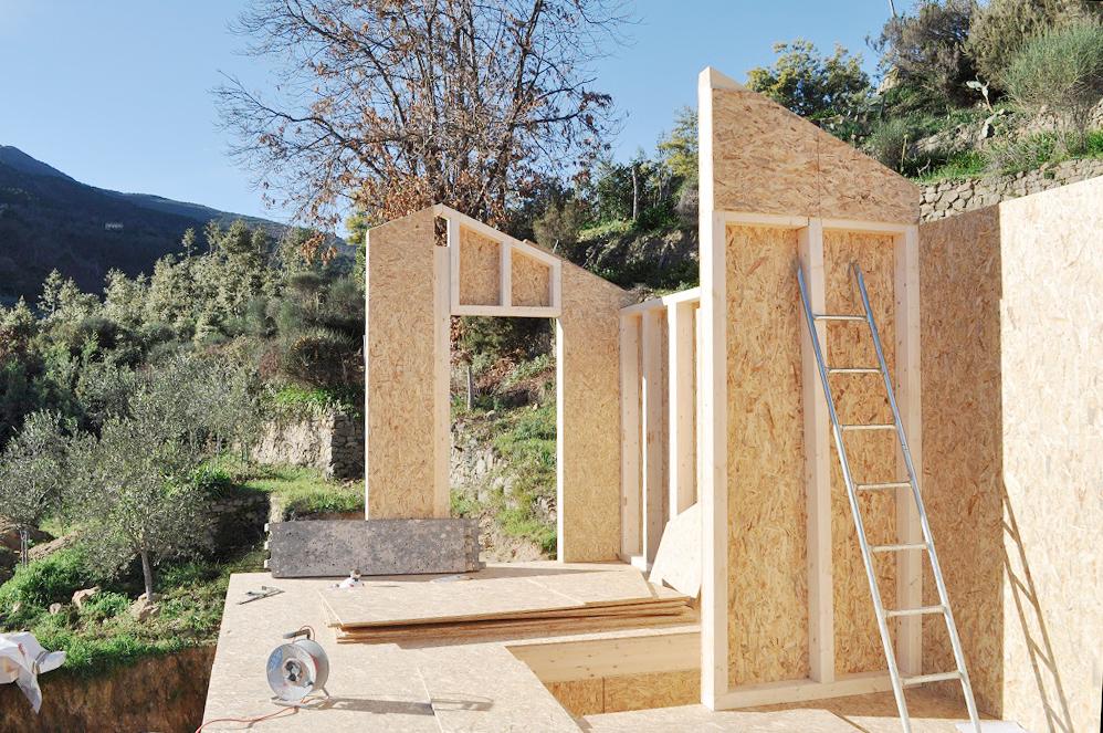 casa in legno liguria