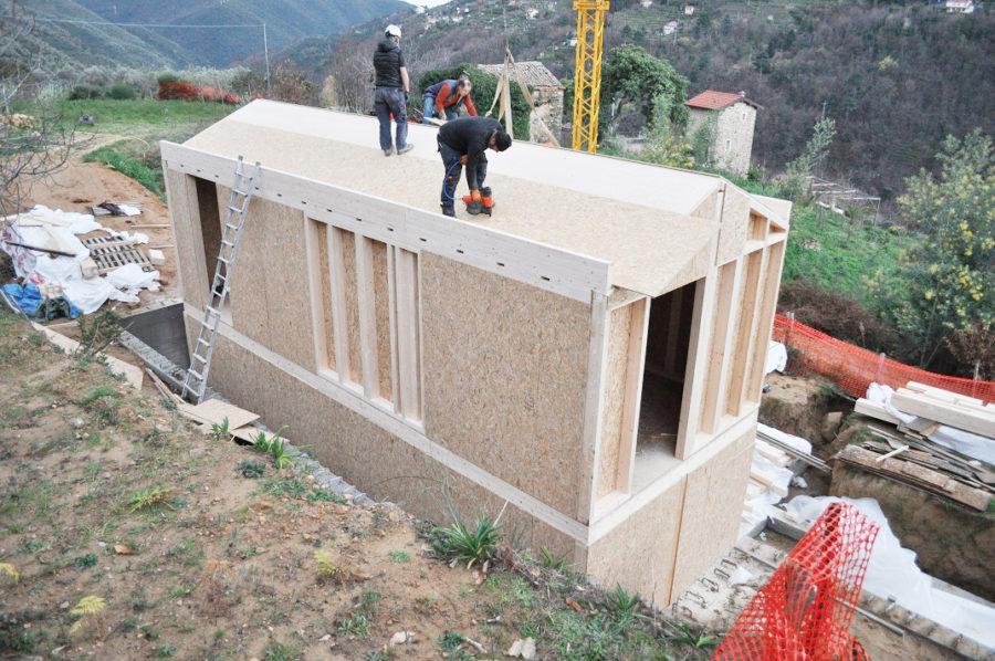 costruzione casa legno