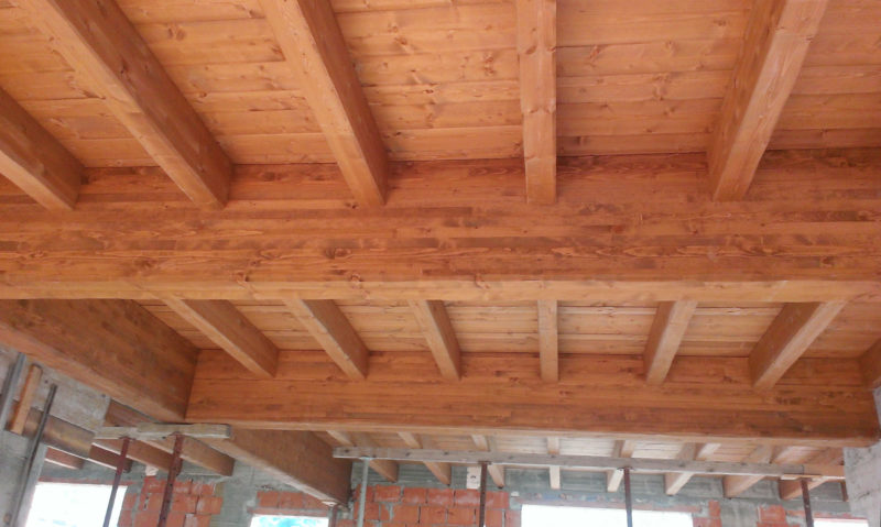 solaio legno costruzione