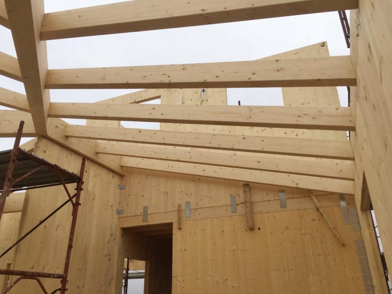 casa in costruzione legno